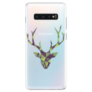 Plastové pouzdro iSaprio Zelený Jelínek na mobil Samsung Galaxy S10 Plus