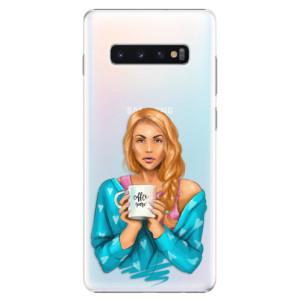 Plastové pouzdro iSaprio Coffee Now Zrzka na mobil Samsung Galaxy S10 Plus