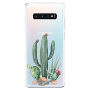 Plastové pouzdro iSaprio Kaktusy 02 na mobil Samsung Galaxy S10 Plus