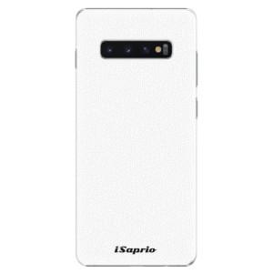 Plastové pouzdro iSaprio 4Pure bílé na mobil Samsung Galaxy S10 Plus
