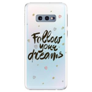 Plastové pouzdro iSaprio Follow Your Dreams černý na mobil Samsung Galaxy S10e