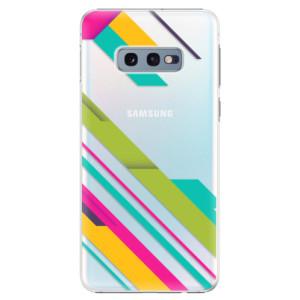 Plastové pouzdro iSaprio Barevné Pruhy 03 na mobil Samsung Galaxy S10e