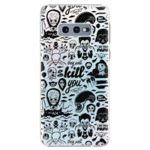Plastové pouzdro iSaprio Komiks 01 black na mobil Samsung Galaxy S10e