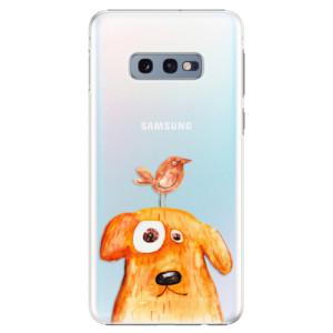 Plastové pouzdro iSaprio Pejsek a Ptáček na mobil Samsung Galaxy S10e