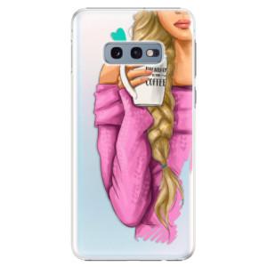 Plastové pouzdro iSaprio Blondýnka s kafčem na mobil Samsung Galaxy S10e