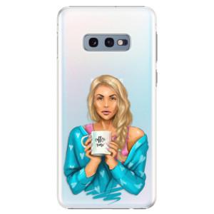Plastové pouzdro iSaprio Coffee Now Blondýna na mobil Samsung Galaxy S10e
