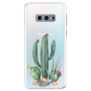 Plastové pouzdro iSaprio Kaktusy 02 na mobil Samsung Galaxy S10e