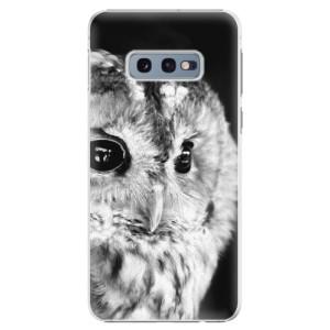 Plastové pouzdro iSaprio BW Sova na mobil Samsung Galaxy S10e
