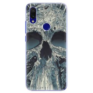 Plastové pouzdro iSaprio Abstract Skull na mobil Xiaomi Redmi 7