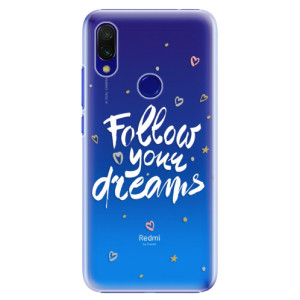 Plastové pouzdro iSaprio Follow Your Dreams bílý na mobil Xiaomi Redmi 7