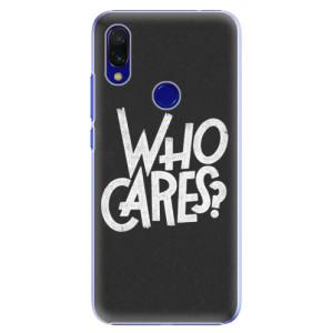 Plastové pouzdro iSaprio Who Cares na mobil Xiaomi Redmi 7