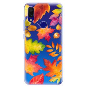 Plastové pouzdro iSaprio Podzimní Lístečky na mobil Xiaomi Redmi 7