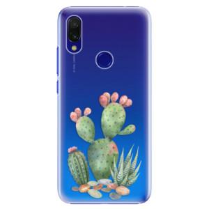 Plastové pouzdro iSaprio Kaktusy 01 na mobil Xiaomi Redmi 7