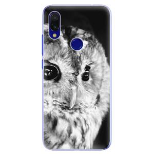 Plastové pouzdro iSaprio BW Sova na mobil Xiaomi Redmi 7