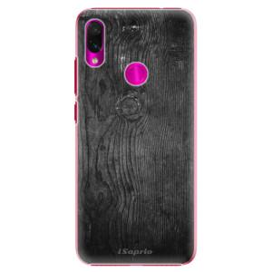 Plastové pouzdro iSaprio Black Wood 13 na mobil Xiaomi Redmi Note 7