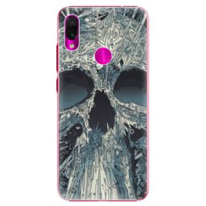 Plastové pouzdro iSaprio Abstract Skull na mobil Xiaomi Redmi Note 7