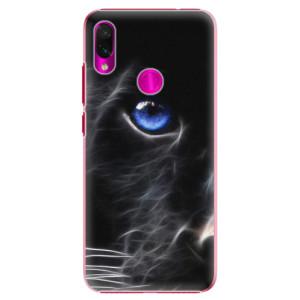 Plastové pouzdro iSaprio Black Puma na mobil Xiaomi Redmi Note 7