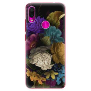 Plastové pouzdro iSaprio Temné Květy na mobil Xiaomi Redmi Note 7