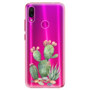 Plastové pouzdro iSaprio Kaktusy 01 na mobil Xiaomi Redmi Note 7