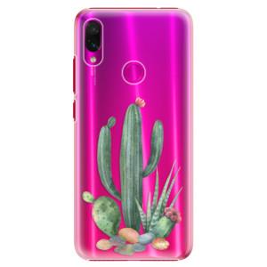 Plastové pouzdro iSaprio Kaktusy 02 na mobil Xiaomi Redmi Note 7