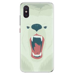 Plastové pouzdro iSaprio Naštvanej Medvěd na mobil Xiaomi Mi 8 Pro