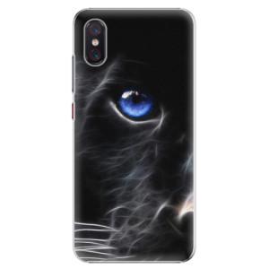 Plastové pouzdro iSaprio Black Puma na mobil Xiaomi Mi 8 Pro