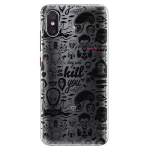 Plastové pouzdro iSaprio Komiks 01 black na mobil Xiaomi Mi 8 Pro