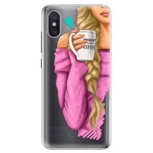 Plastové pouzdro iSaprio Blondýnka s kafčem na mobil Xiaomi Mi 8 Pro