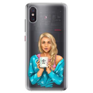 Plastové pouzdro iSaprio Coffee Now Blondýna na mobil Xiaomi Mi 8 Pro
