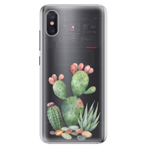 Plastové pouzdro iSaprio Kaktusy 01 na mobil Xiaomi Mi 8 Pro