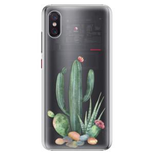 Plastové pouzdro iSaprio Kaktusy 02 na mobil Xiaomi Mi 8 Pro