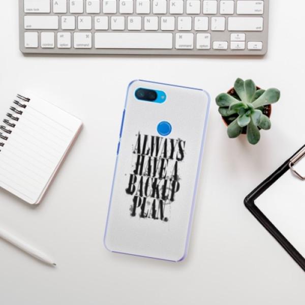 Plastové pouzdro iSaprio Backup Plan na mobil Xiaomi Mi 8 Lite