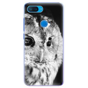 Plastové pouzdro iSaprio BW Sova na mobil Xiaomi Mi 8 Lite