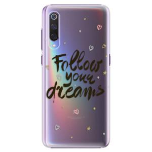 Plastové pouzdro iSaprio Follow Your Dreams černý na mobil Xiaomi Mi 9