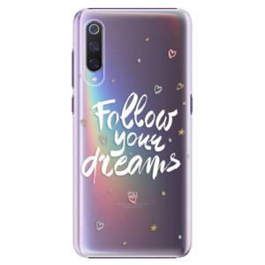 Plastové pouzdro iSaprio Follow Your Dreams bílý na mobil Xiaomi Mi 9
