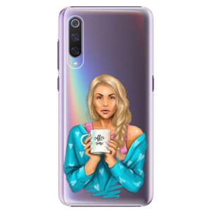 Plastové pouzdro iSaprio Coffee Now Blondýna na mobil Xiaomi Mi 9
