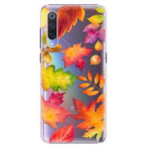 Plastové pouzdro iSaprio Podzimní Lístečky na mobil Xiaomi Mi 9
