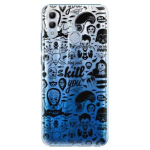 Plastové pouzdro iSaprio Komiks 01 black na mobil Honor 10 Lite