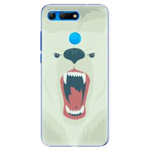 Plastové pouzdro iSaprio Naštvanej Medvěd na mobil Honor View 20