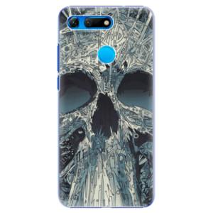 Plastové pouzdro iSaprio Abstract Skull na mobil Honor View 20