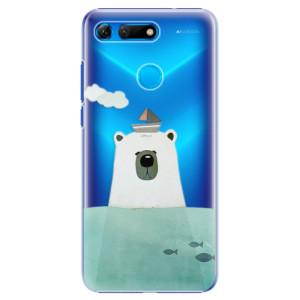 Plastové pouzdro iSaprio Medvěd s Lodí na mobil Honor View 20