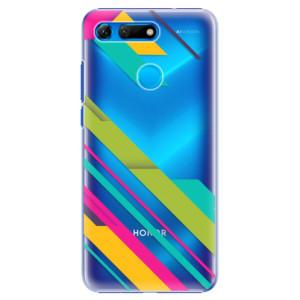 Plastové pouzdro iSaprio Barevné Pruhy 03 na mobil Honor View 20