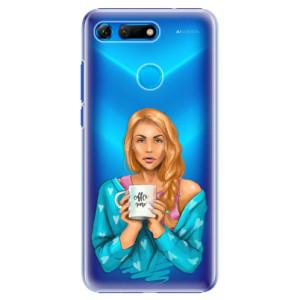Plastové pouzdro iSaprio Coffee Now Zrzka na mobil Honor View 20