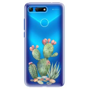 Plastové pouzdro iSaprio Kaktusy 01 na mobil Honor View 20