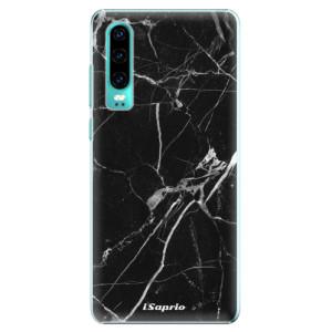 Plastové pouzdro iSaprio Black Marble 18 na mobil Huawei P30