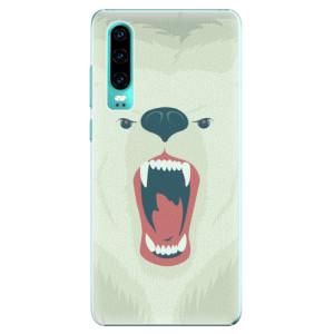 Plastové pouzdro iSaprio Naštvanej Medvěd na mobil Huawei P30