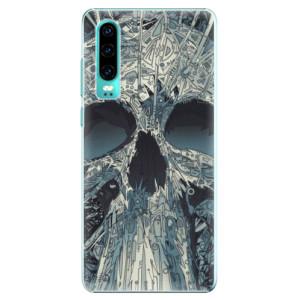 Plastové pouzdro iSaprio Abstract Skull na mobil Huawei P30