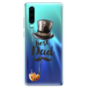 Plastové pouzdro iSaprio Best Dad na mobil Huawei P30