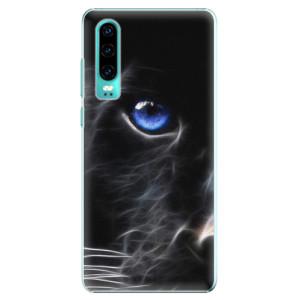 Plastové pouzdro iSaprio Black Puma na mobil Huawei P30