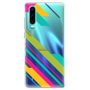 Plastové pouzdro iSaprio Barevné Pruhy 03 na mobil Huawei P30